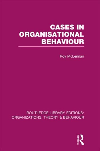 Picture of Cases in Organisational Behaviour