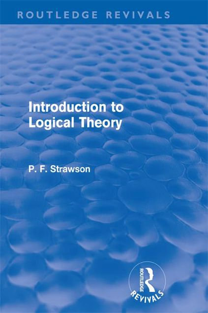 Picture of Introduction to Logical Theory (Routledge Revivals)