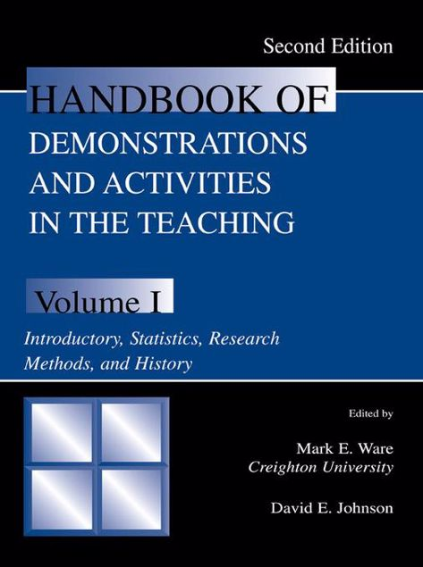Picture of Handbook of Demonstrations and Activities in the Teaching of Psychology, Second Edition: Volume I: Introductory, Statistics, Research Methods, and His
