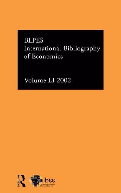Picture of Intl Bibliog Econom 2002 Vol 51