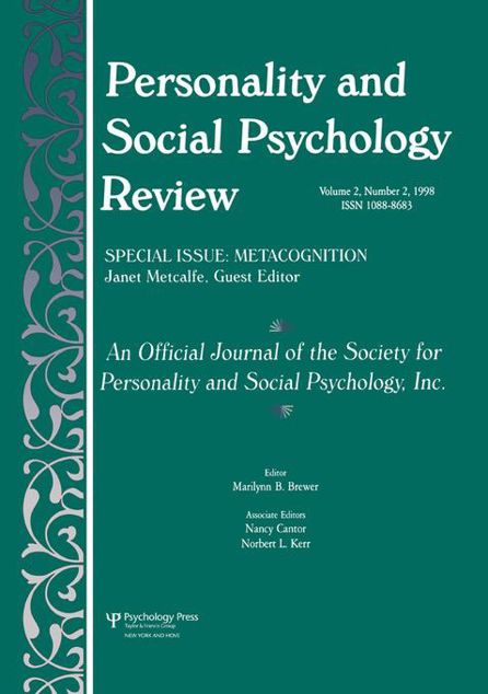 Picture of Metacognition: A Special Issue of personality and Social Psychology Review