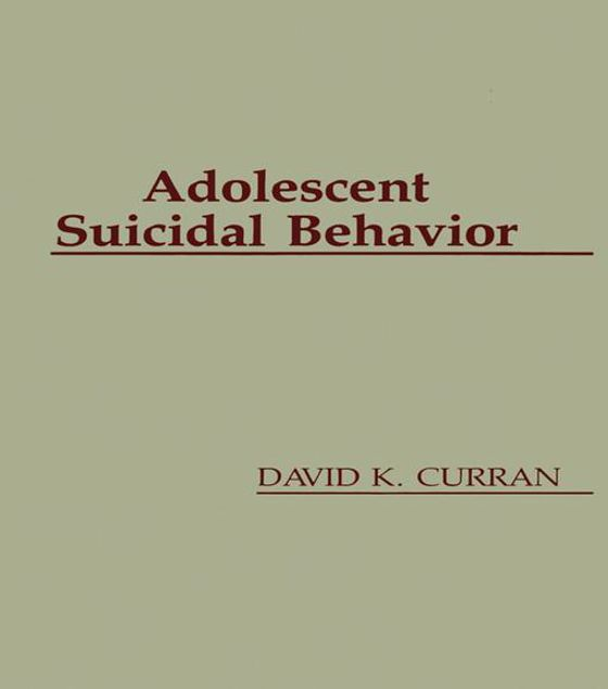 Picture of Adolescent Suicidal Behavior