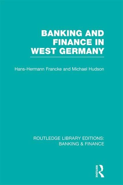 Picture of Banking and Finance in West Germany (Rle Banking & Finance)