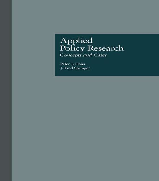Picture of Applied Policy Research: Concepts and Cases