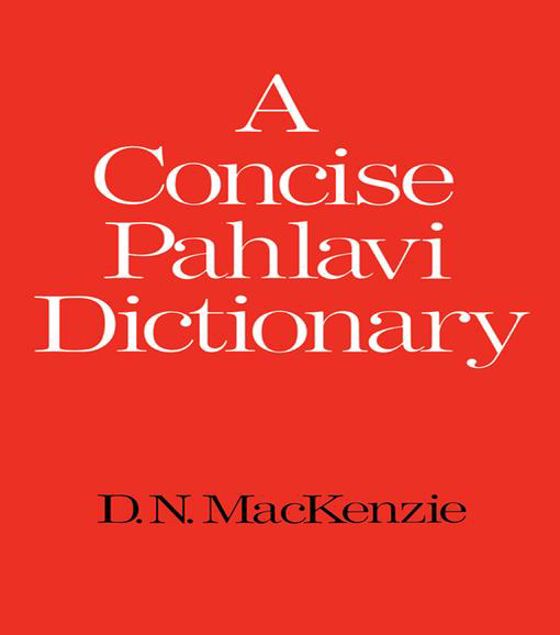 Picture of A Concise Pahlavi Dictionary