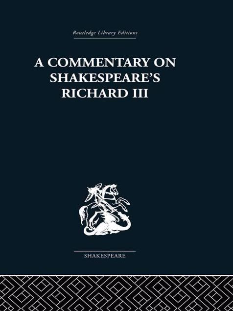 Picture of Commentary on Shakespeare's Richard III