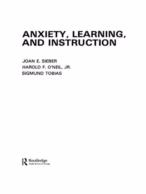 Picture of Anxiety Learning and Instruction