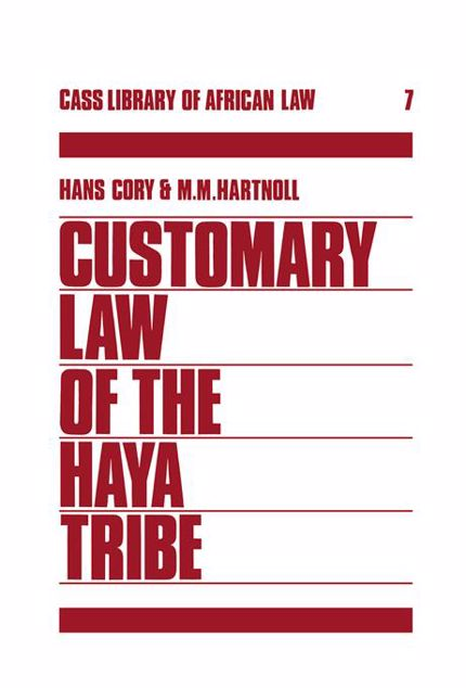 Picture of Customary Law of the Haya Tribe, Tanganyika Territory