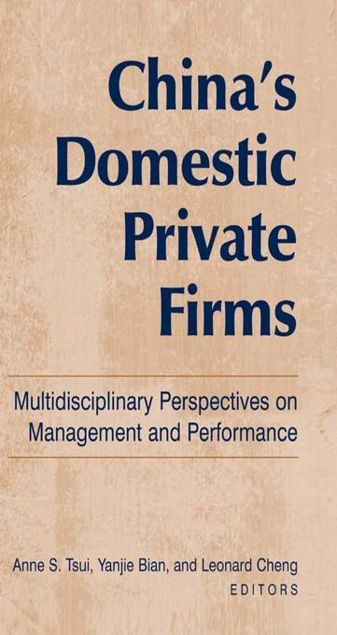 Picture of China's Domestic Private Firms: Multidisciplinary Perspectives on Management and Performance: Multidisciplinary Perspectives on Management and Perform