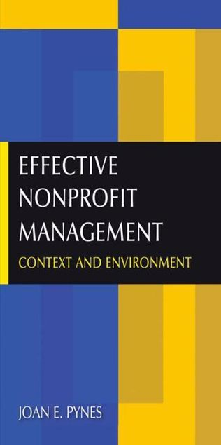 Picture of Effective Nonprofit Management: Context and Environment
