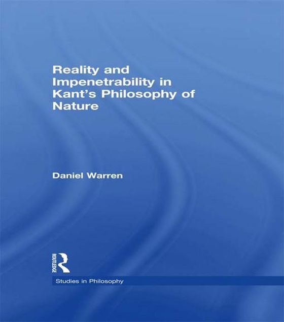 Picture of Reality and Impenetrability in Kant's Philosophy of Nature