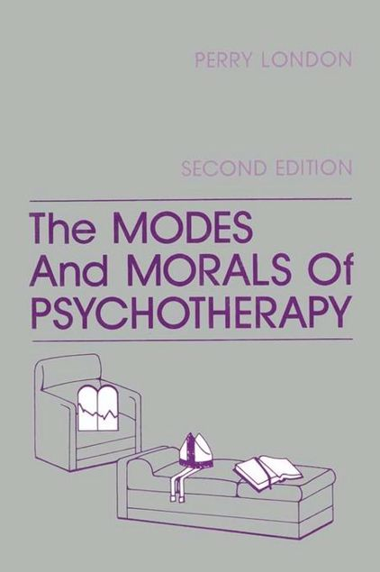 Picture of The Modes And Morals Of Psychotherapy