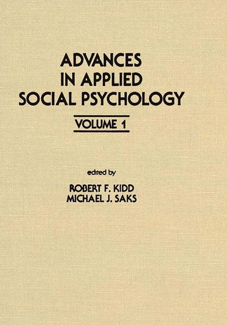 Picture of Advances in Applied Social Psychology: Volume 1