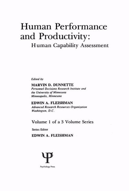 Picture of Human Performance and Productivity: Volumes 1, 2, and 3