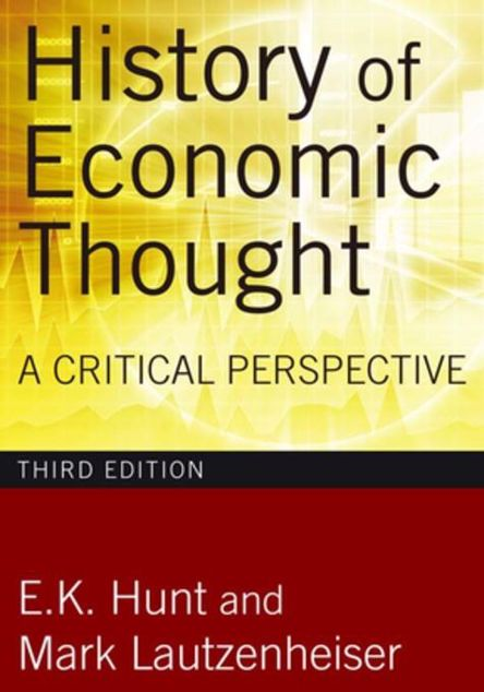 Picture of History of Economic Thought: A Critical Perspective