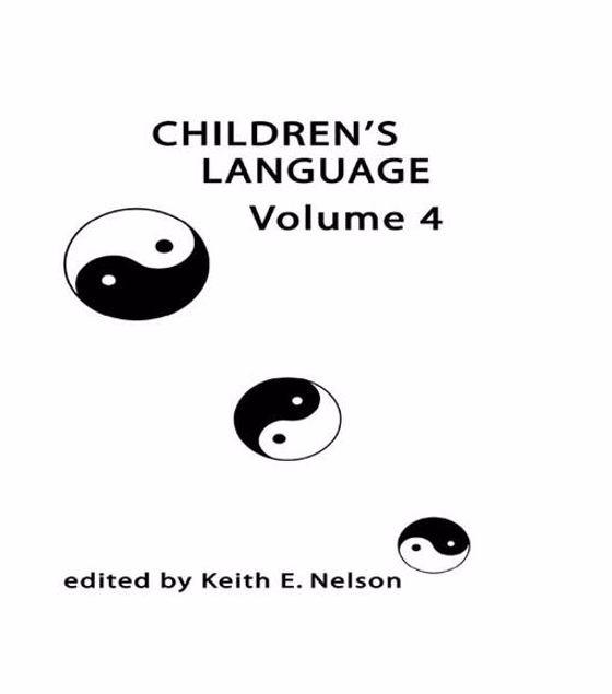 Picture of Children's Language: Volume 4