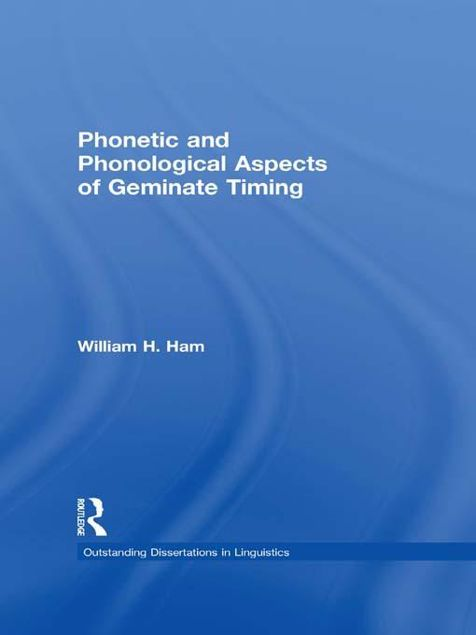 Picture of Phonetic and Phonological Aspects of Geminate Timing