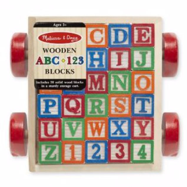 Picture of Classic Abc Block Cart-Ages 3+
