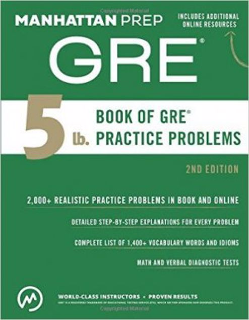 Picture of 5 Lb. Book Of Gre Practice Problems