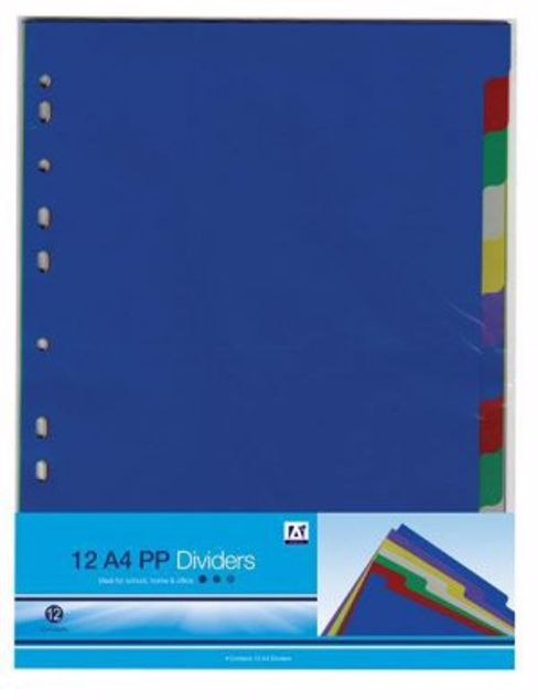 Picture of 12 A4 Pp Dividers (Aajl)