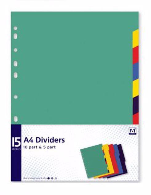 Picture of A4 10Part & 5Part Dividers (Avad/3)