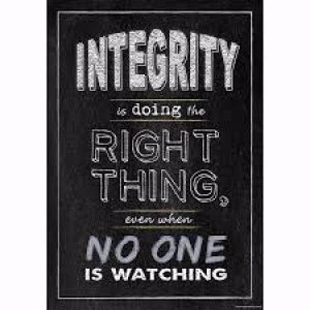 Picture of Chart - Integrity Is Doing The Right (19 X 13.3 X 0 Inches )