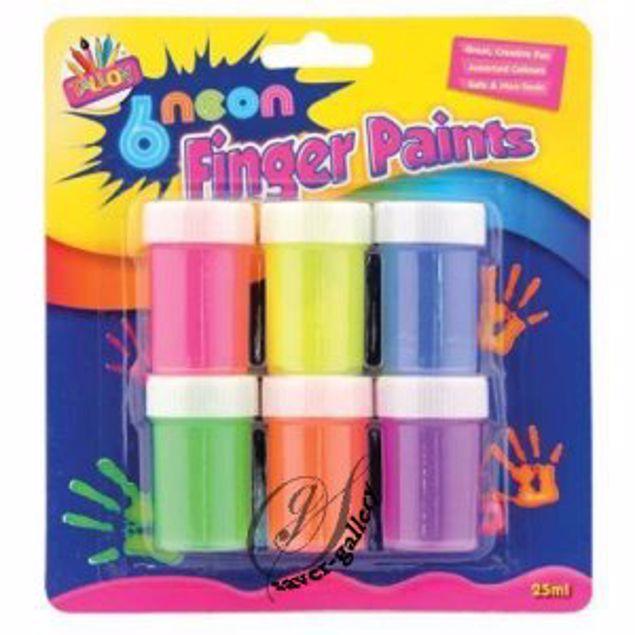 Picture of 6 Neon Finger Paints