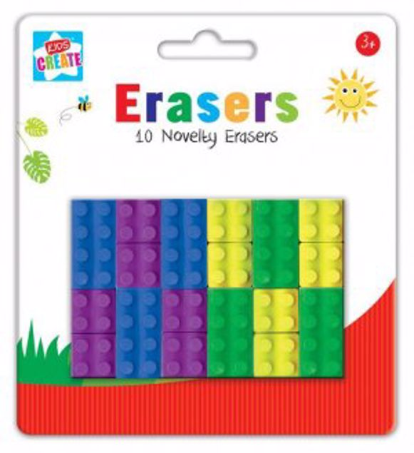 Picture of 10 Novelty Erasers (Bric)