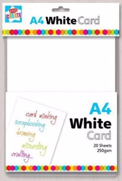 Picture of A4 White Card (Wcar/2)
