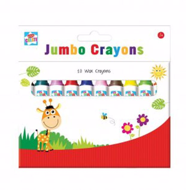 Picture of 10 Jumbo Wax Crayons (Cyon)