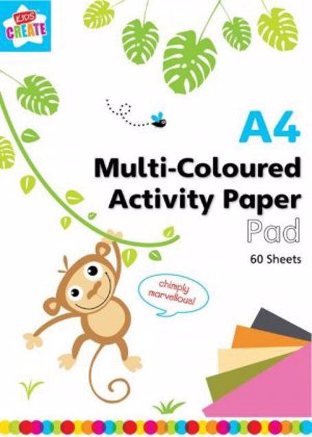 Picture of A4 Multi Coloured Activity Paper Pad (Colj/1)