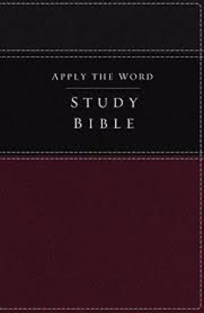 Picture of Apply The Word Study Bible, Imitation Leather, Burgundy/Black, Red Letter Edition: Live In His Steps