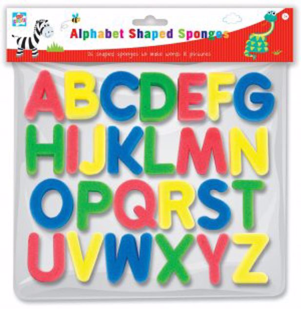 Picture of Alphabet Shaped Sponges (Pcay/1)