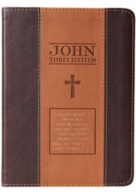 Picture of Journal-For God So Loved The World-Two Tone Tan-Brown