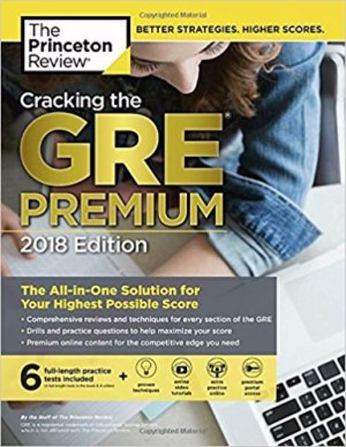 Picture of Cracking The Gre Premium Edition With 6 Practice Tests, 2018