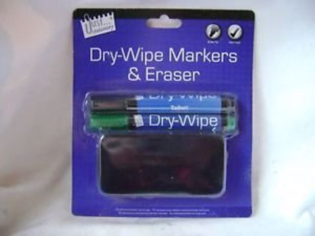 Picture of 2 White Board Markers With Eraser