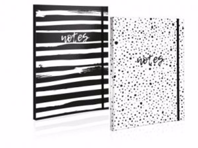 Picture of A4 Sc Notebook-Spot/Stripes