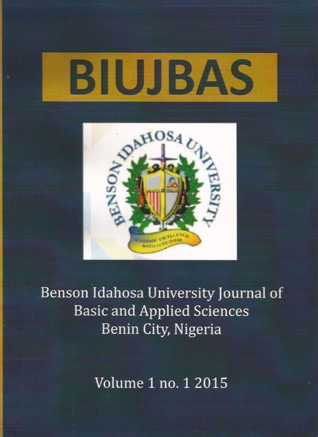 Picture of Benson Idahosa University Journal of Basic and Applied Sciences