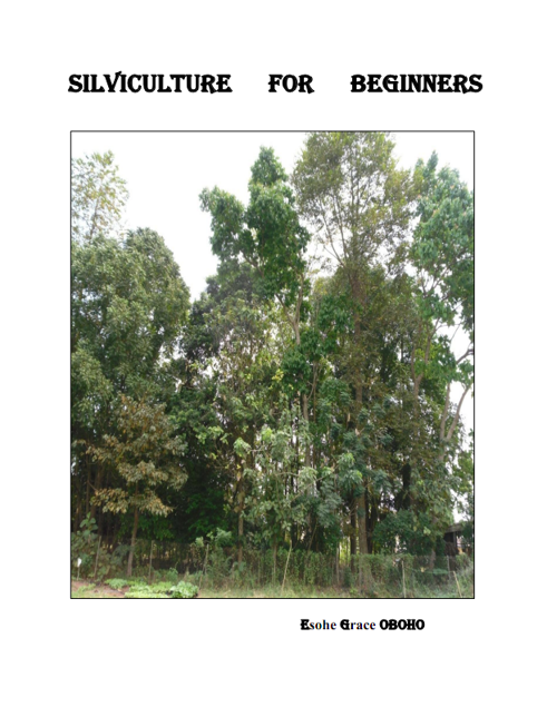 Picture of SILVICULTURE FOR BEGINNERS