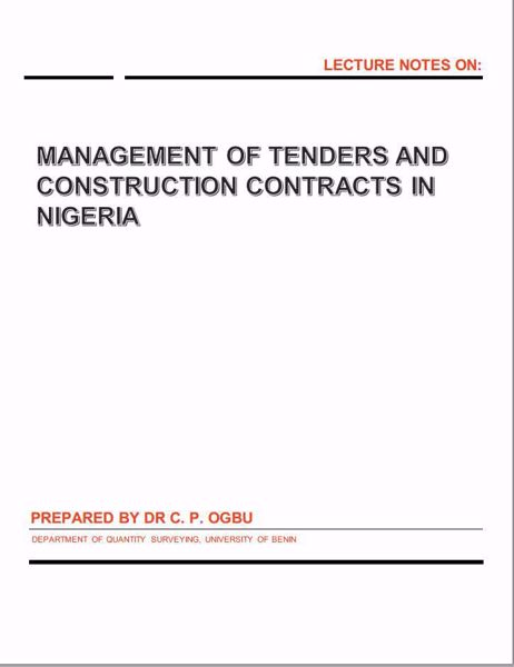 Picture of MANAGEMENT OF TENDERS AND CONSTRUCTION CONTRACTS