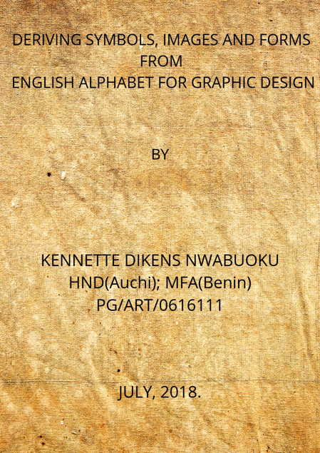 Picture of DERIVING SYMBOLS, IMAGES AND FORMS FROM  ENGLISH ALPHABETS FOR GRAPHIC DESIGN