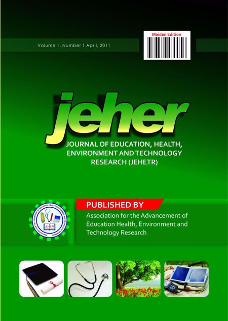 Picture of Nigeria Journal of Education, Health And Technology Research (NJEHETR). Volume 1 No 1