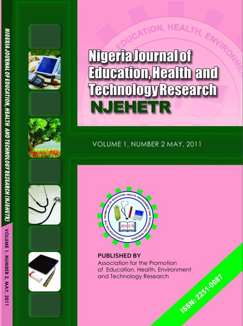 Picture of Nigeria Journal of Education, Health And Technology Research Vol 1 No 2