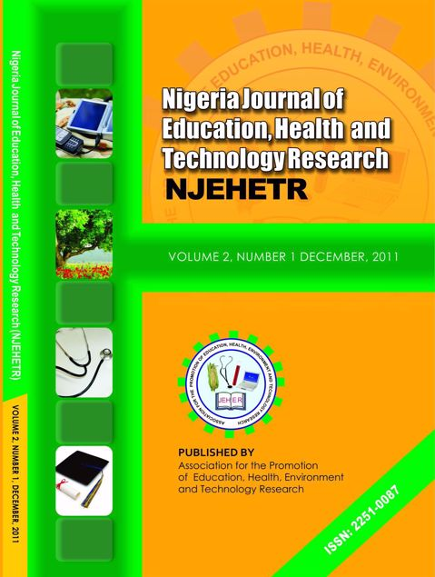 Picture of Nigeria Journal of Education, Health And Technology Research Vol 2 No 1