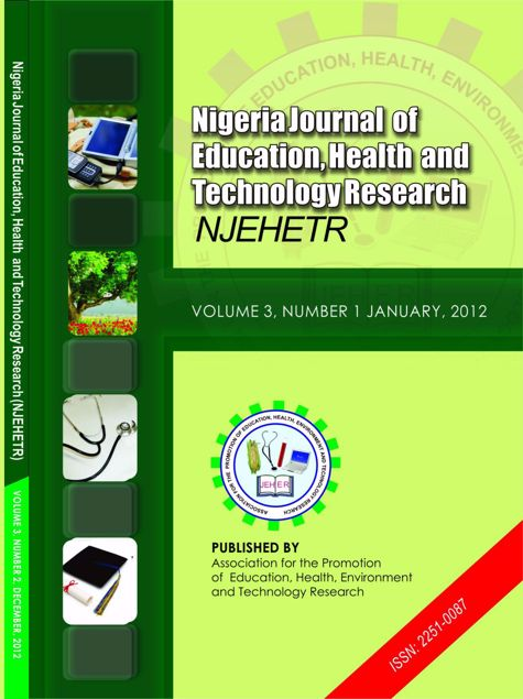 Picture of Nigeria Journal of Education, Health And Technology Research  Volume 3 No 1