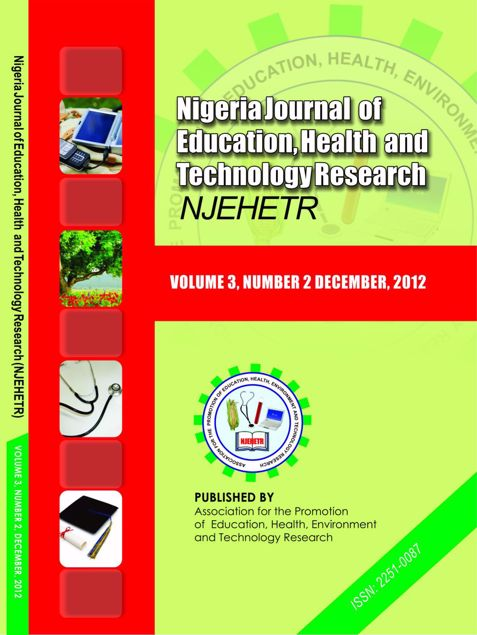 Picture of Nigeria Journal of Education, Health And Technology Research Vol 3 No 2
