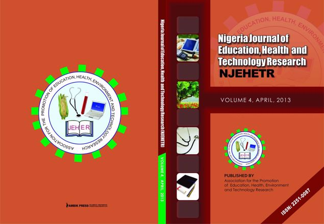 Picture of Nigeria Journal of Education, Health And Technology  Research  Vol 4