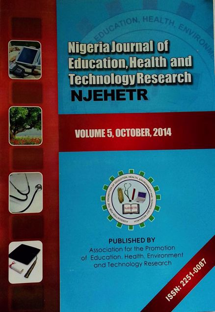 Picture of Nigeria Journal of Education, Health And Technology Research Vol 5