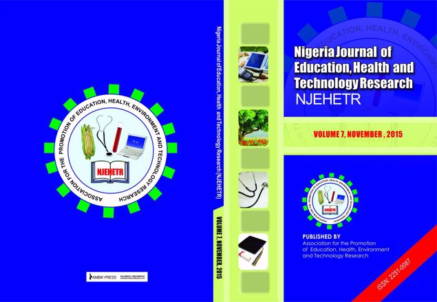 Picture of Nigeria Journal of Education, Health And Technology Research Vol 7