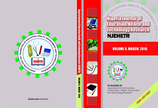 Picture of Nigeria Journal of Education, Health And Technology Research Vol 8